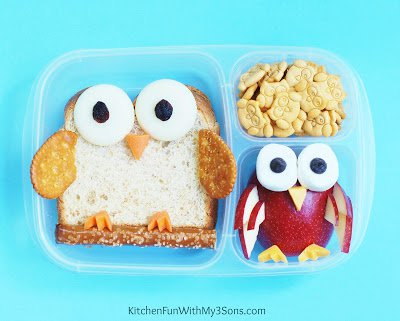 Bento Lunches - Owl Bento Lunch Idea - by Kitchen Fun With My 3 Sons