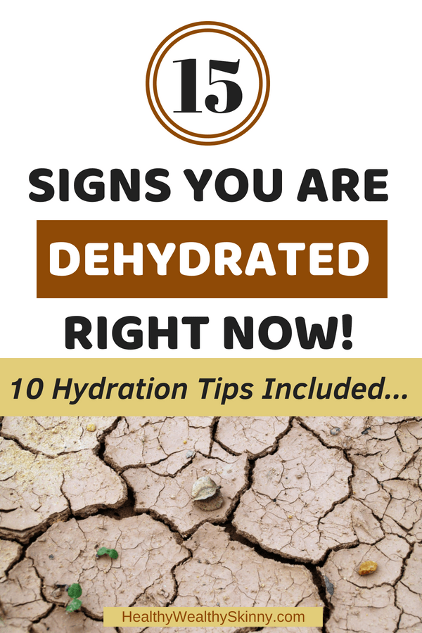 Signs You Are Dehydrated Right Now