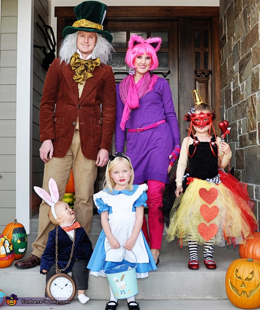 Family Halloween Costume Ideas - Alice In Wonderland