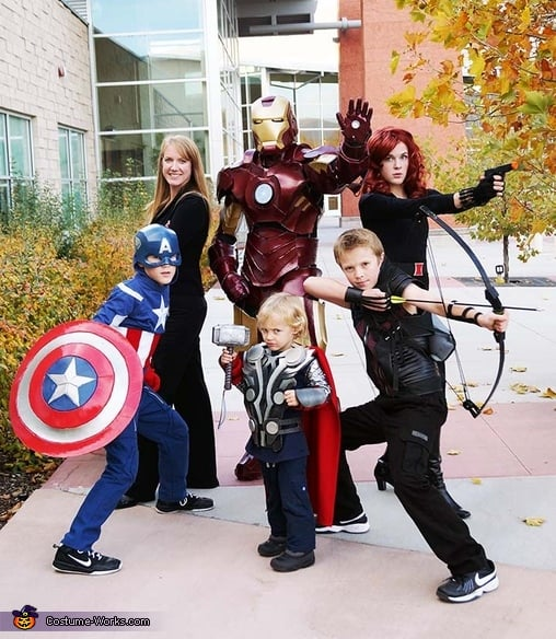 Family Halloween Costume Ideas - The Avengers