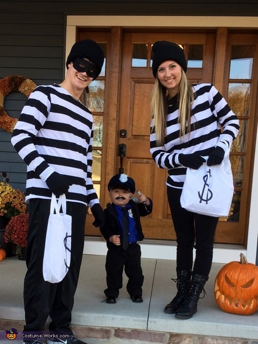Family Halloween Costume Ideas - Cops & Robbers