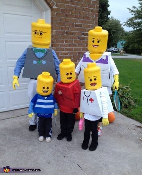 Family Halloween Costume Ideas  - Lego Family