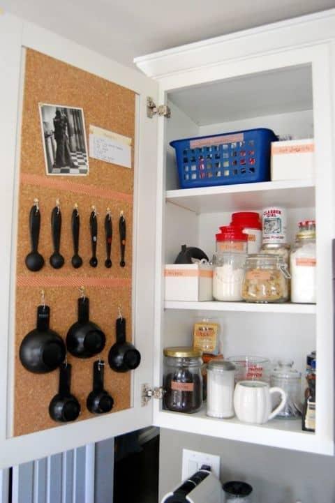 Kitchen Organization Ideas Use a Cork Board