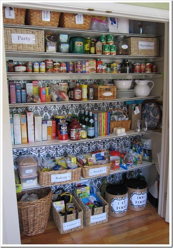 Kitchen Organization Ideas - Transform a Coat Closet into a Pantry by Cute DIY Projects