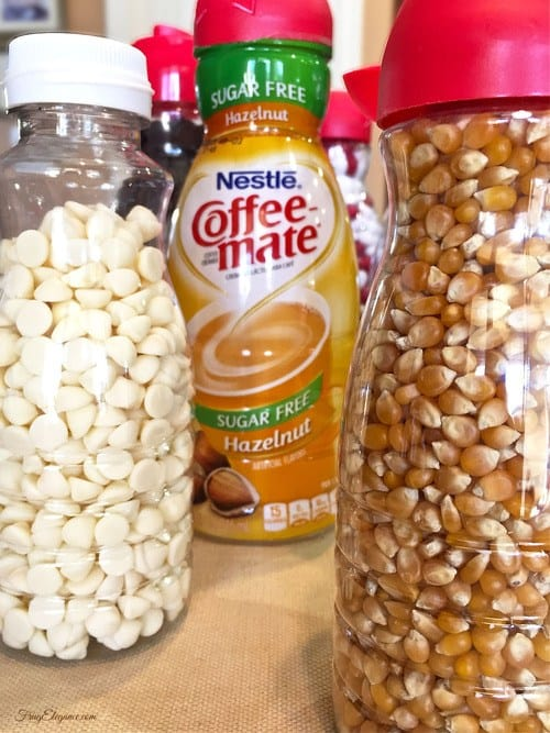 Kitchen Organizarion Ideas - Coffee Creamer Containers