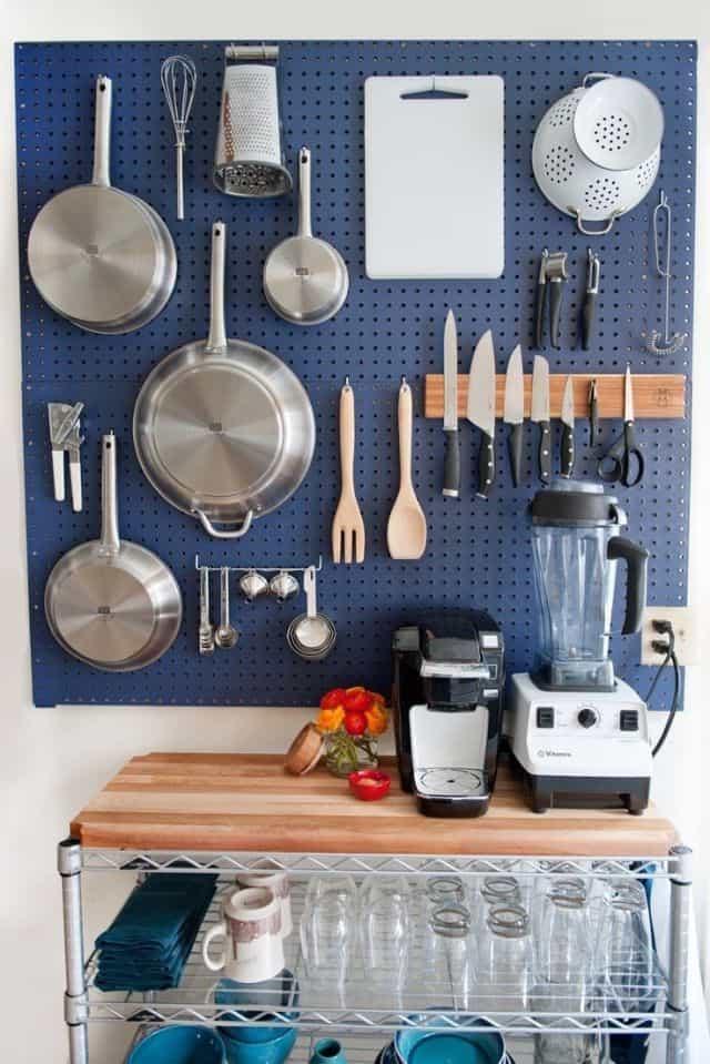 Kitchen Organization Ideas - Kitchen Wall Storage by ARCHITECTUREIN