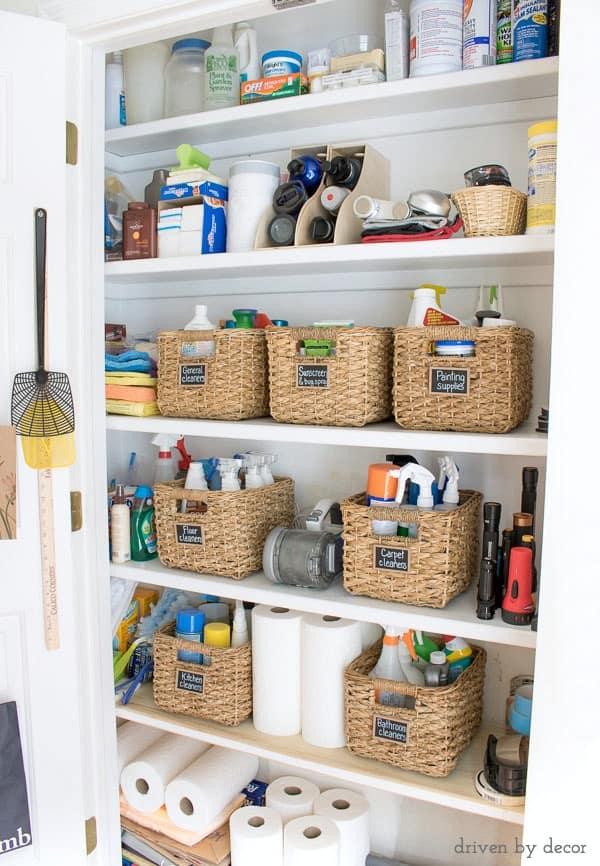 Kitchen Organization Ideas - Kitchen Storage Closet by Driven by Decor