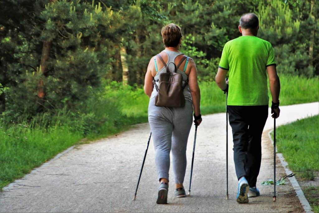 walking best exercise when you are out of shape couple walking