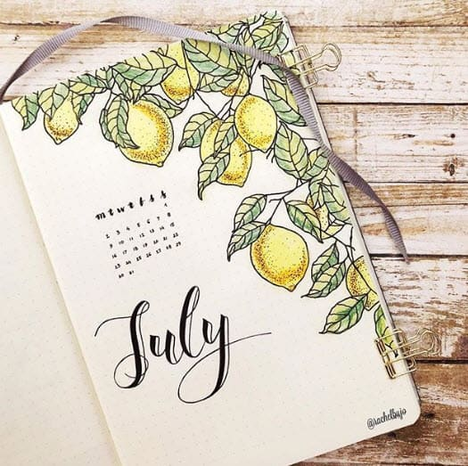 Bullet Journal Spreads - Creative Calendar
