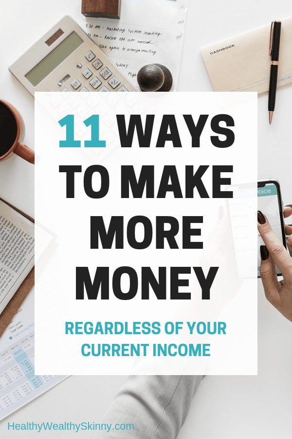 Personal Finance | Cutting your expenses will only save you so much money.  In order to boost your finances you must make more money. Learn ways to make more money regardless of your current income. #makemoremoney #makeextramoney #personalfinance #savingmoney #increaseincome #sidejobs #healthywealthyskinny #HWS