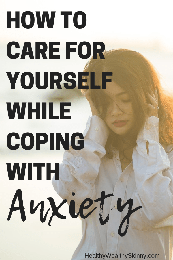 Anxiety | How to care for yourself while coping with Anxiety. Anxiety disorders affect 40 million adults in the United States alone.  The majority of anxiety suffers deal with it on a regular basis, often at least once a day. Instead of letting it consume you, learn how to cope with anxiety by creating a self-care routine. #anxiety #livewithanxiety #selfcareroutine #selfcare #HWS #healthywealthyskinny