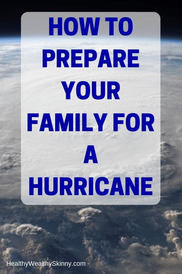 Hurricane Emergency Preparedness | Is your family prepared for a hurricane? For those in certain areas, hurricane threats are a very real yearly occurrence during hurricane season.  Every family should prepare for natural disasters.  Learn how to prepare your family for a hurricane. #hurricane #familysurvivalkit #survivalkit #emergencykit #emergencyplanning #disasterpreparedness #emergencypreparedness #healthywealthyskinny #HWS
