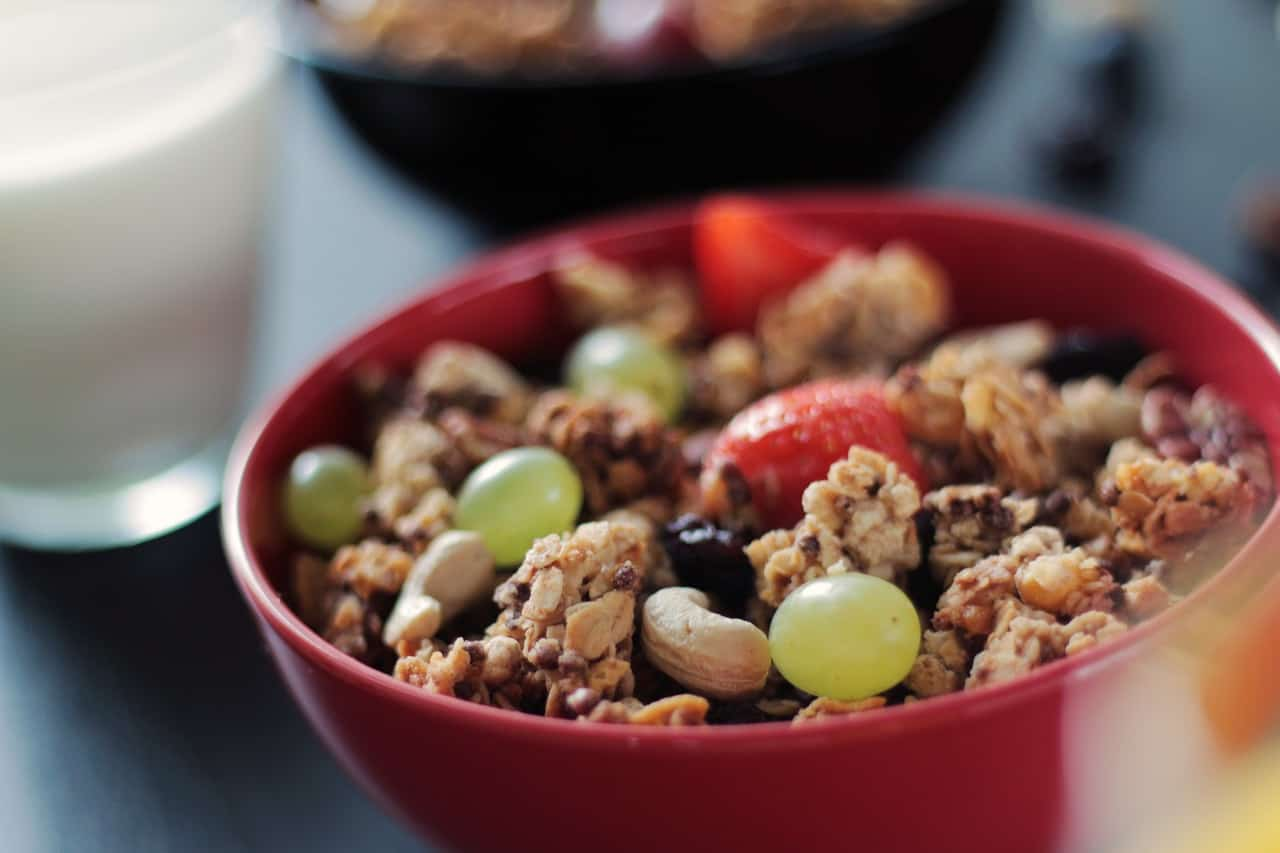 Breakfast on the Go - Granola is a healthy snack or breakfast to make for your family and is easy for them to bring along on busy mornings